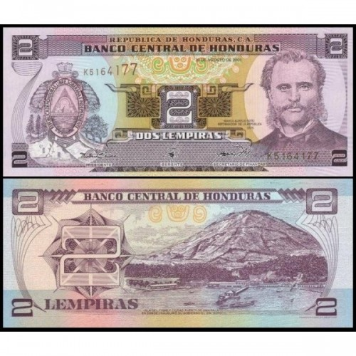 HONDURAS 2 Lempiras 2001