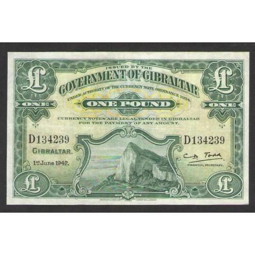 GIBRALTAR 1 Pound 1942