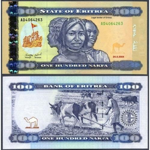 ERITREA 100 Nakfa 2004