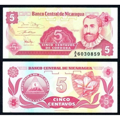 NICARAGUA 5 Centavos 1991