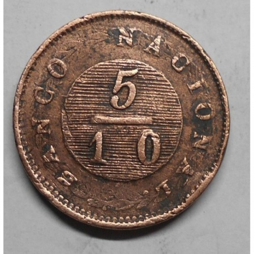 ARGENTINA 5/10 Real 1830