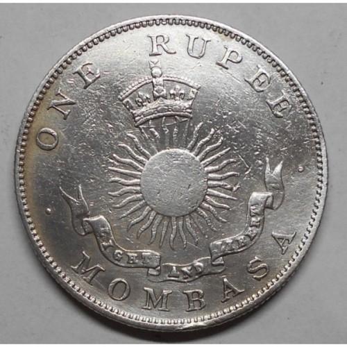 MOMBASA 1 Rupee 1888H AG