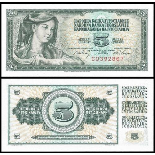 YUGOSLAVIA 5 Dinara 1968