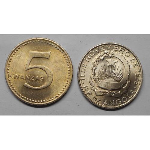 ANGOLA 5 Kwanzas 1977 (75)