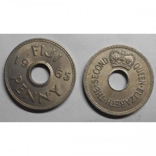FIJI 1 Penny 1965