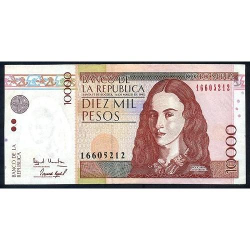 COLOMBIA 10.000 Pesos 1995
