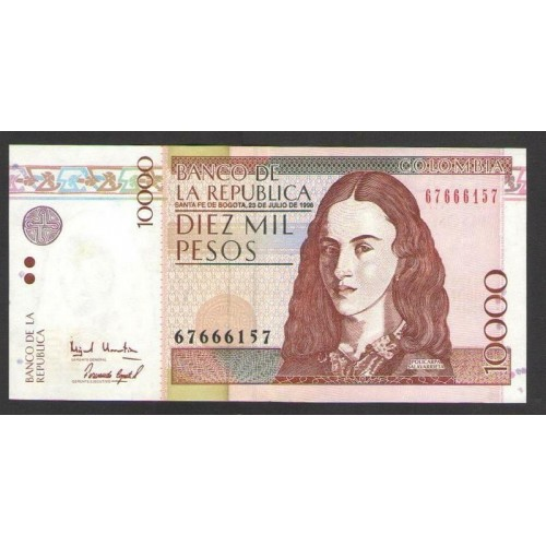 COLOMBIA 10.000 Pesos 1998