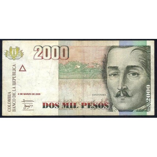 COLOMBIA 2000 Pesos 2005