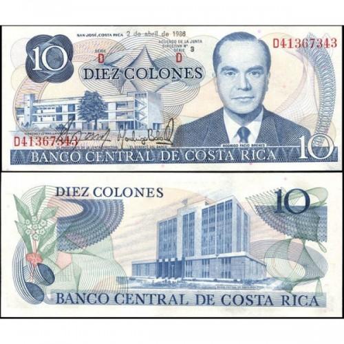 COSTA RICA 10 Colones 1986