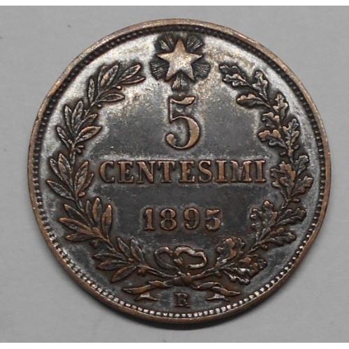 5 Centesimi 1895