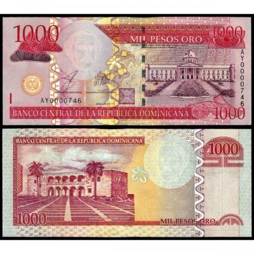 DOMINICAN REPUBLIC 1000...