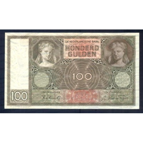 NETHERLANDS 100 Gulden 1941