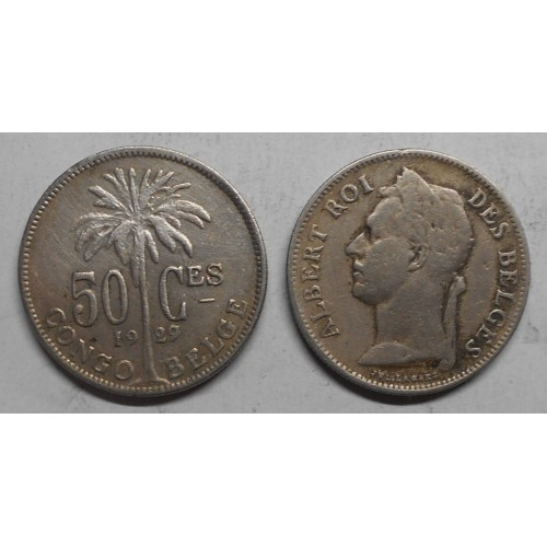 BELGIAN CONGO 50 Centimes...