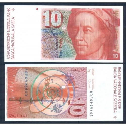 SWITZERLAND 10 Franken 1980