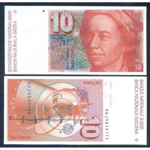 SWITZERLAND 10 Franken 1986