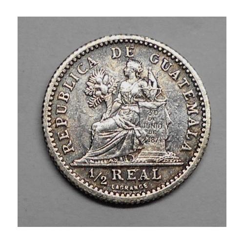 GUATEMALA 1/2 Real 1899 AG