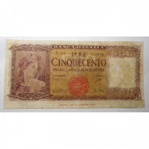 500 LIRE 1961 ITALIA ORNATA...