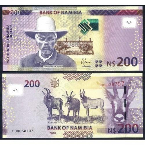 NAMIBIA 200 Dollars 2018