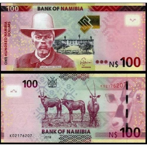 NAMIBIA 100 Dollars 2018