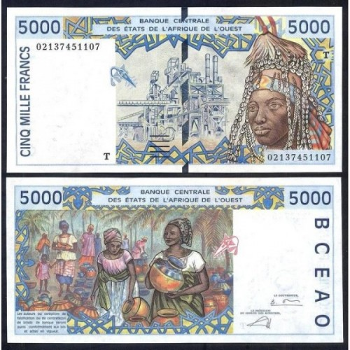 TOGO (W.A.S.) 5000 Francs 2002