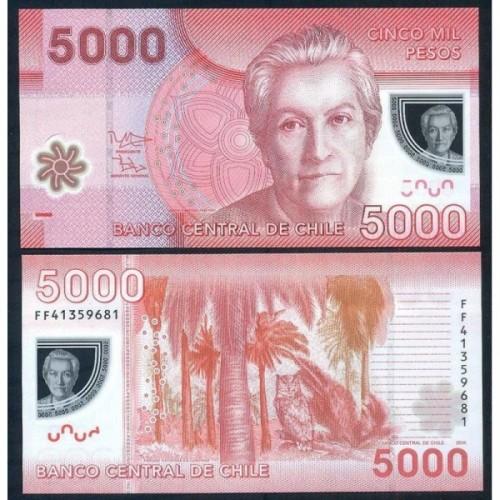 CHILE 5000 Pesos 2014 Polymer