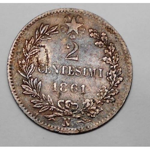 2 Centesimi 1861 N
