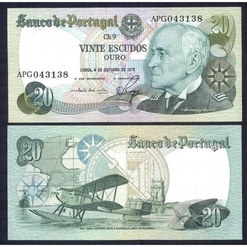 PORTUGAL 20 Escudos 04.10.1978