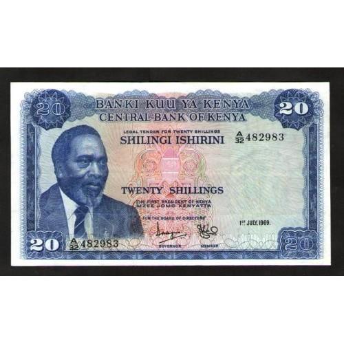 KENYA 20 Shillings 1969