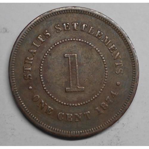 STRAITS SETTLEMENTS 1 Cent...