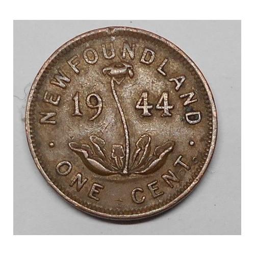 NEWFOUNDLAND 1 Cent 1944
