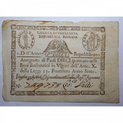 REPUBBLICA ROMANA 10 Paoli...
