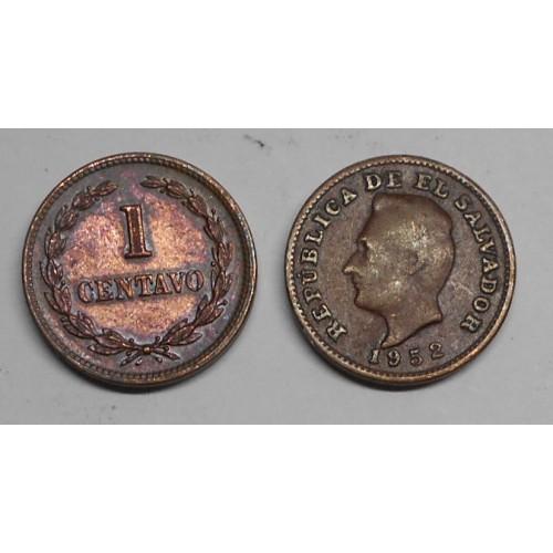 EL SALVADOR 1 Centavo 1952