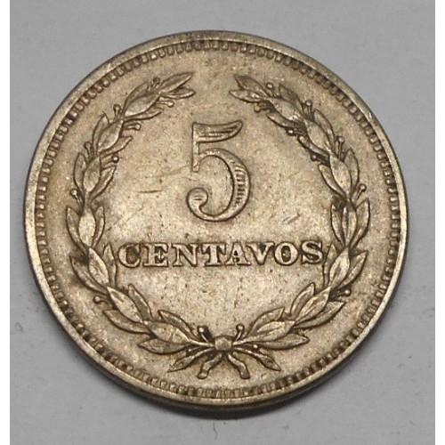EL SALVADOR 5 Centavos 1944