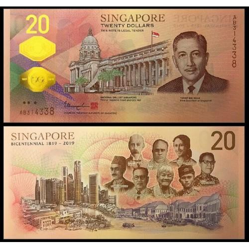 SINGAPORE 20 Dollars 2019...