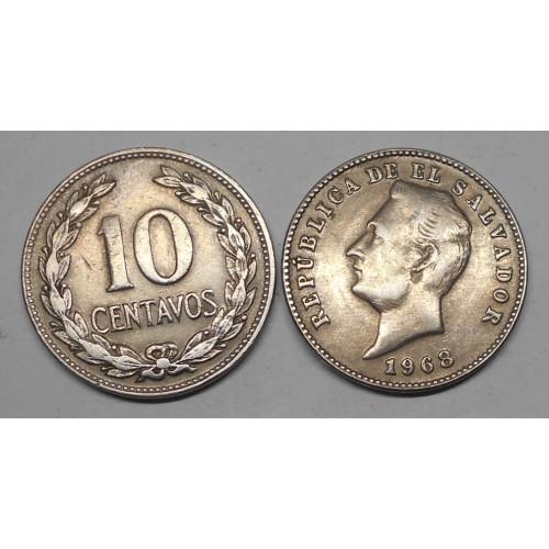 EL SALVADOR 10 Centavos 1968
