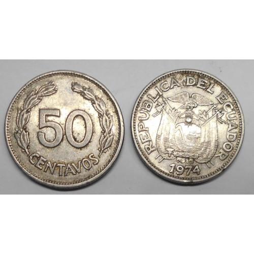 ECUADOR 50 Centavos 1974