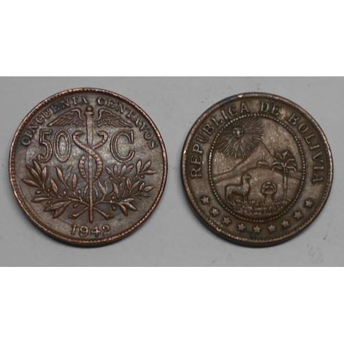 BOLIVIA 50 Centavos 1942