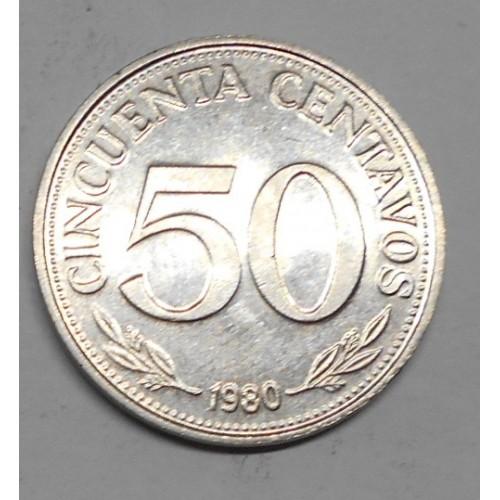 BOLIVIA 50 Centavos 1980