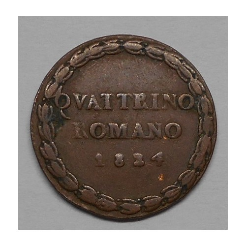 LEONE XII Quattrino Romano...