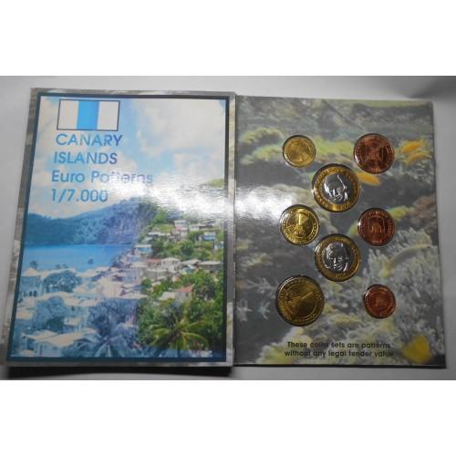 CANARY ISLANDS Set coins...