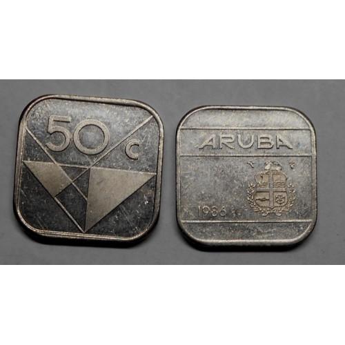 ARUBA 50 cents 1986