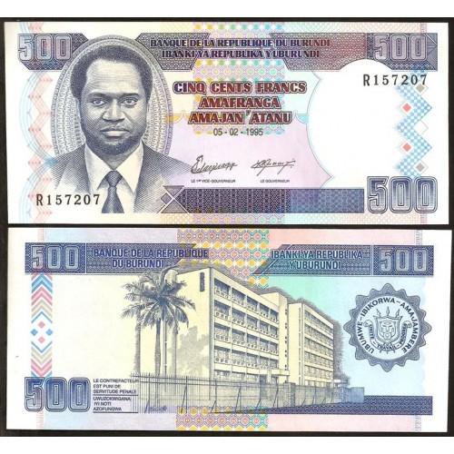 BURUNDI 500 Francs 1995
