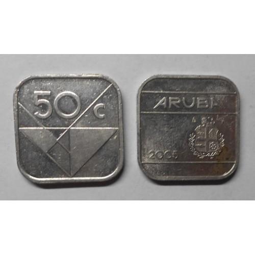 ARUBA 50 cents 2005