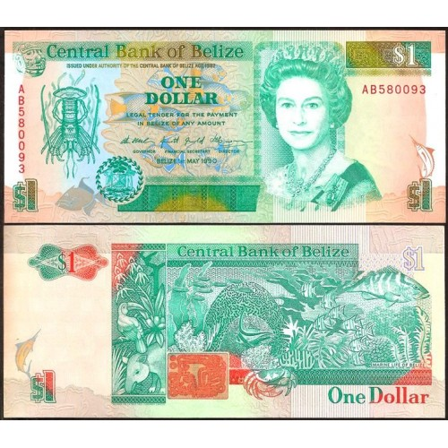 BELIZE 1 Dollar 1990