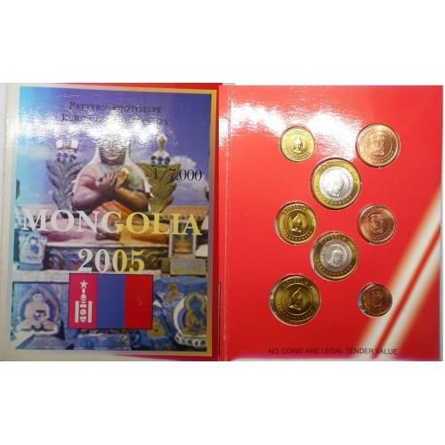 MONGOLIA Set coins 2005...