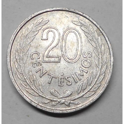 URUGUAY 20 Centesimos 1965