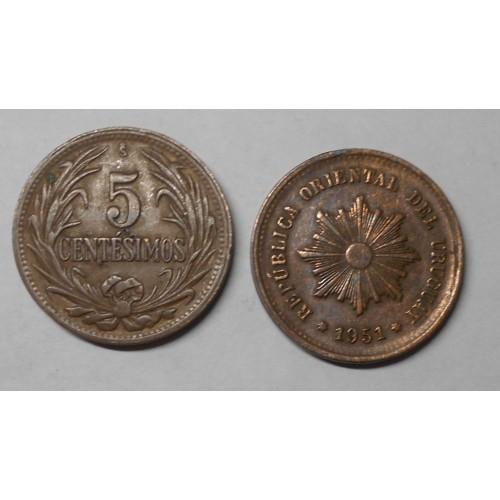 URUGUAY 5 Centesimos 1951