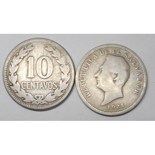 EL SALVADOR 10 Centavos 1921