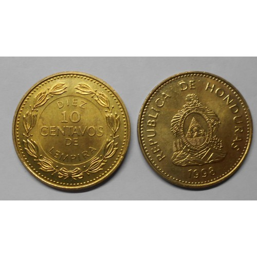 HONDURAS 10 Centavos 1998