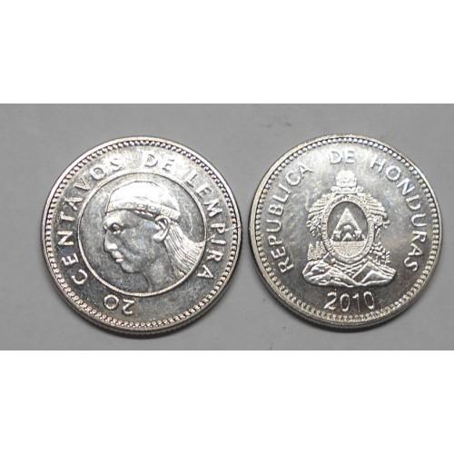 HONDURAS 20 Centavos 2010